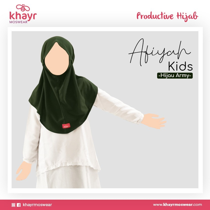 Afiyah Kids Hijau Army