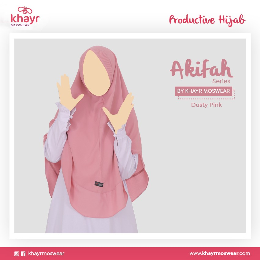 Akifah Dusty Pink