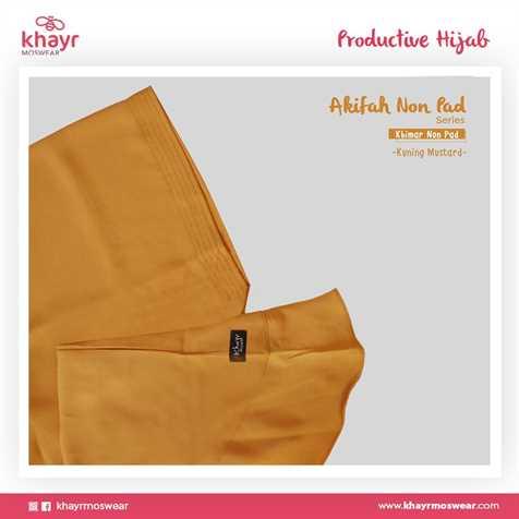 Akifah Non Pad Kuning Mustard