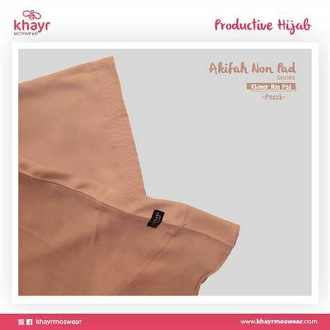 Akifah Non Pad Peach