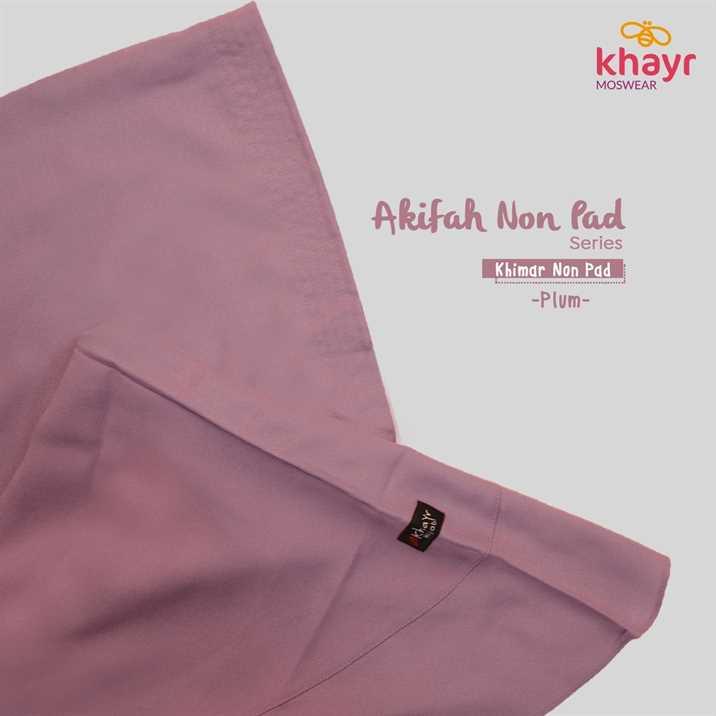Akifah Non Pad Plum