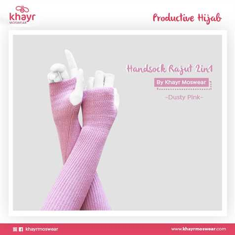 Handsock 2in1 11 Dusty pink