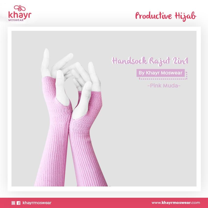 Handsock 2in1 21 Pink Muda