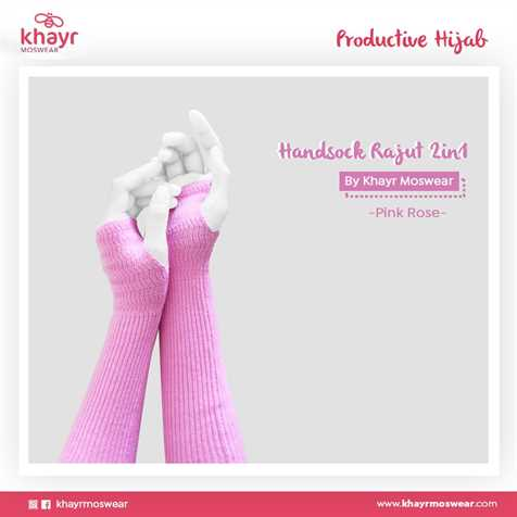 Handsock 2in1 22 Pink Rose