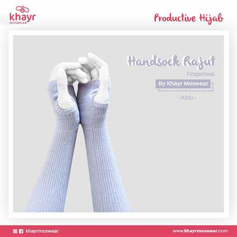 Handsock Fingerless 02 Abu Muda