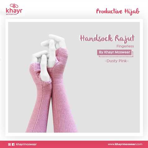 Handsock Fingerless 12 Dusty pink