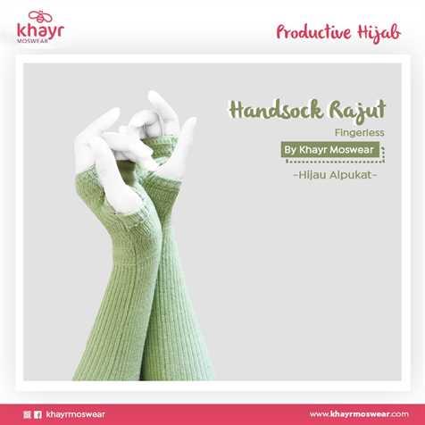 Handsock Fingerless 13 Hijau alpukat