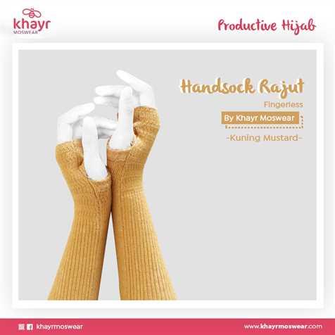 Handsock Fingerless 16 Kuning mustard