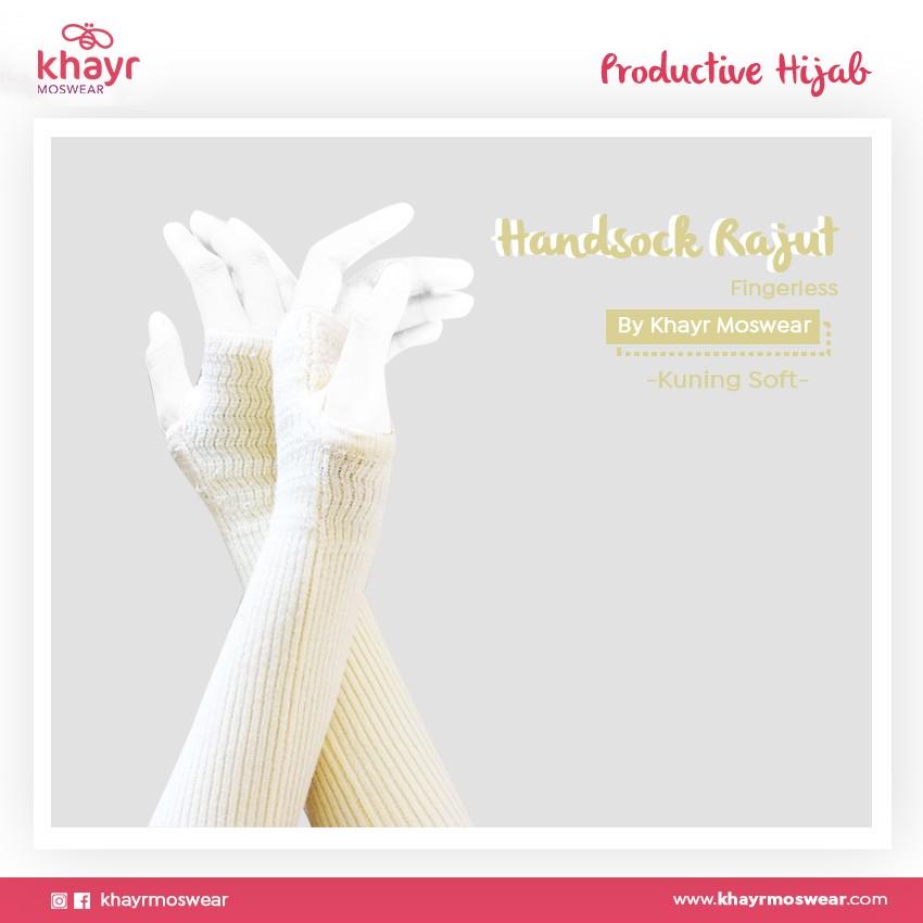 Handsock Fingerless 17  Kuning soft