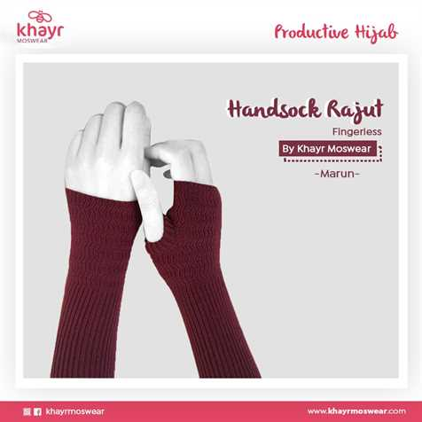 Handsock Fingerless 18 Maroon