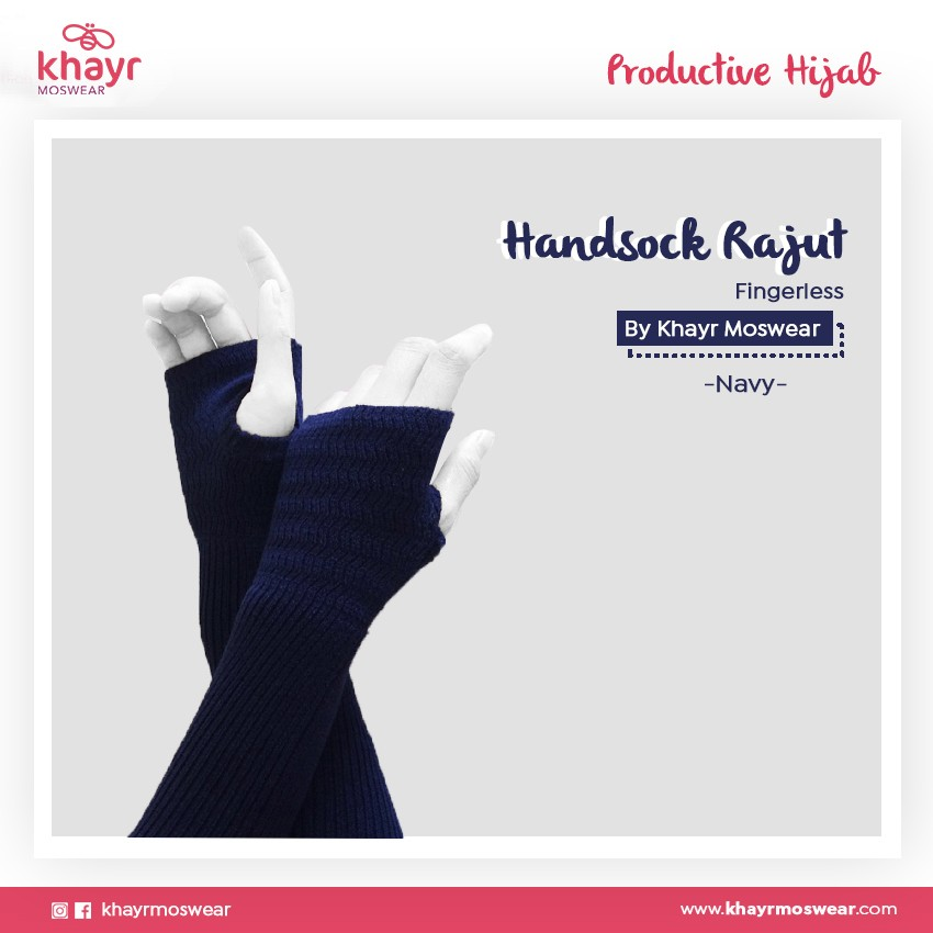 Handsock Fingerless 21 Navy