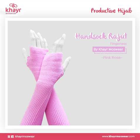 Handsock Fingerless 23 Pink Rose