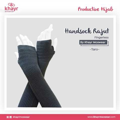 Handsock Fingerless 26 Taro