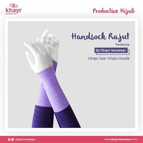 Handsock Twotone 01 (Ungu Muda - Ungu Tua)
