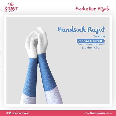 Handsock Twotone 04 (Abu - Denim)