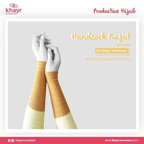 Handsock Twotone 05 (Kuning - Kuning Mustard)