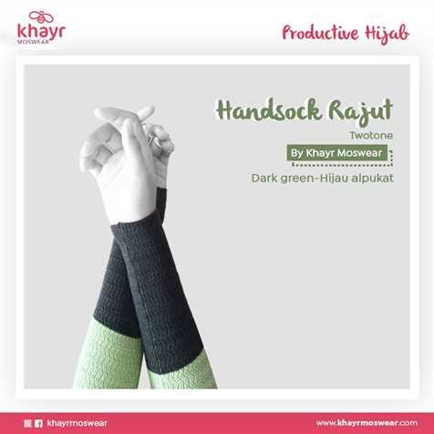 Handsock Twotone 06 (Hijau Alpukat - Dark Green)