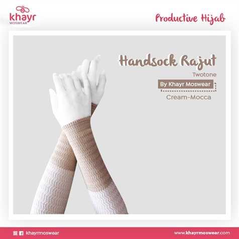 Handsock Twotone 07 (Cream - Mocca)