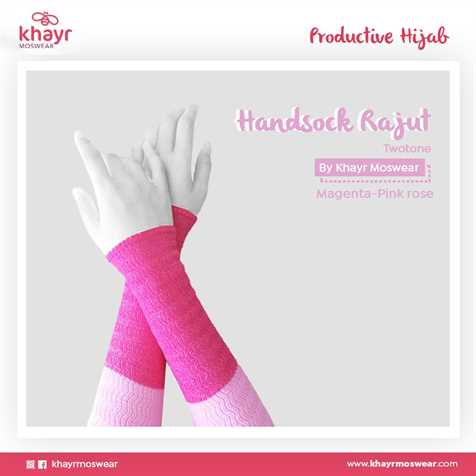 Handsock Twotone 08 (Pink Rose - Magenta)