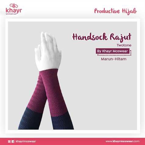 Handsock Twotone 11 (Marun - Hitam)