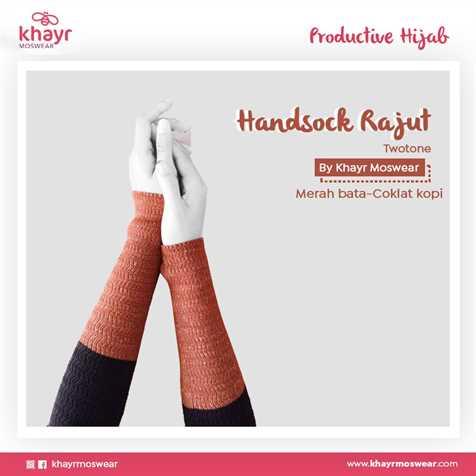 Handsock Twotone 12 (Coklat Kopi - Merah Bata)