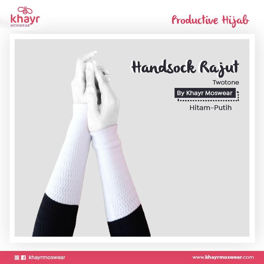 Handsock Twotone 15 (Hitam - Putih)