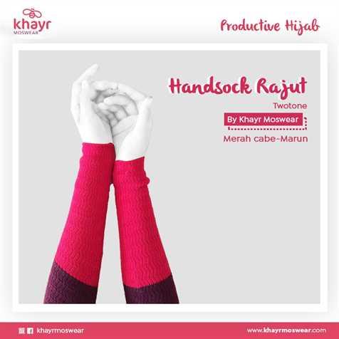 Handsock Twotone 16 (Maron - Merah Cabe)