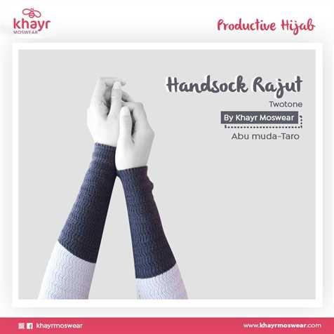Handsock Twotone 18 (Taro - Abu Muda)