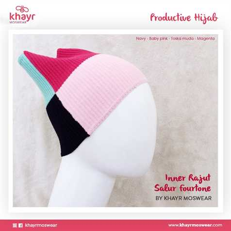 Inner Fourtone 14 (Navy - Baby pink - Toska muda - Magenta)