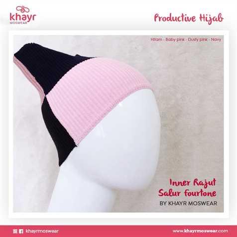Inner Fourtone 16 (Hitam - Baby pink - Dusty pink - Navy)