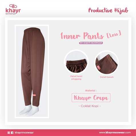 Inner Pants Loss Coklat Kopi