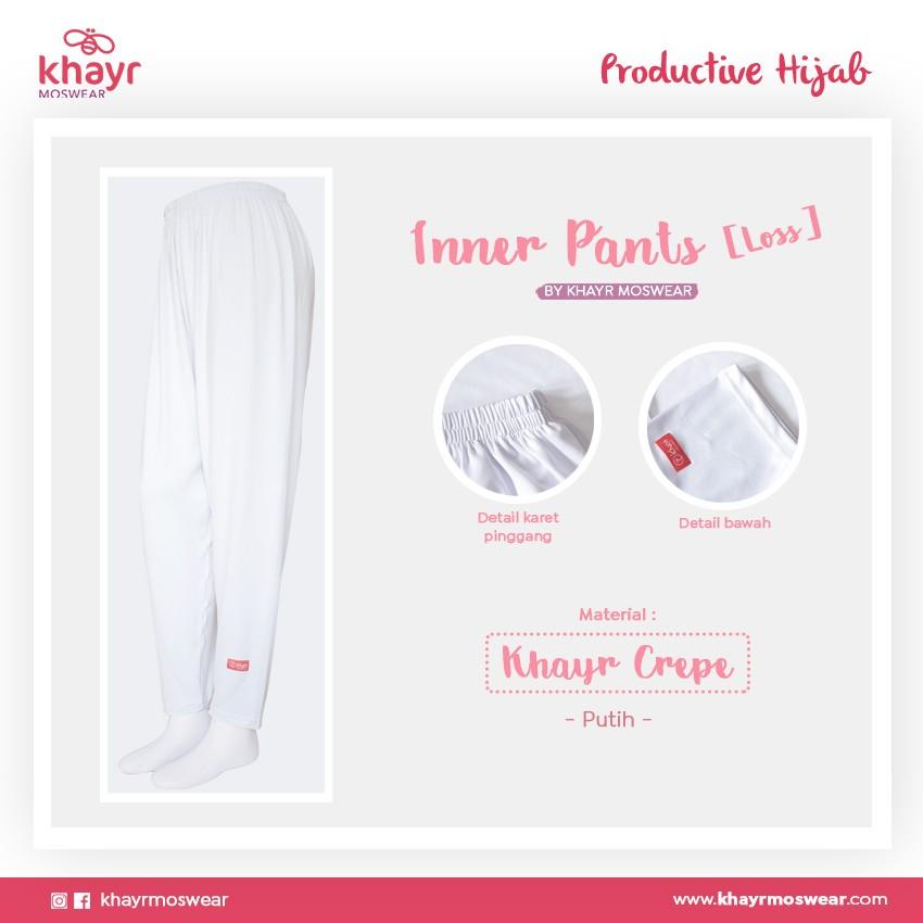 Inner Pants Loss Putih