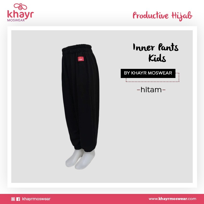 Inner Pants Kids Hitam