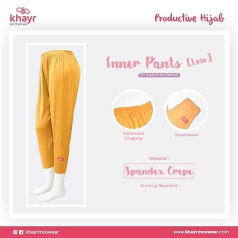 Inner Pants Loss Kuning Mustard
