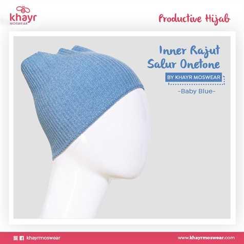 Inner Rajut Onetone 03 Baby blue