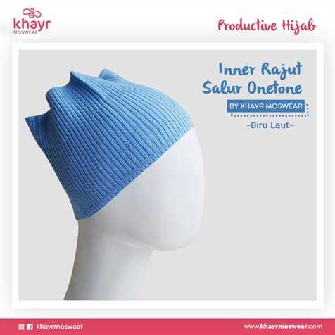 Inner Rajut Onetone 06 Biru Laut