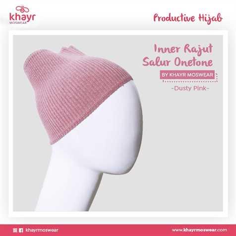 Inner Rajut Onetone 11 Dusty pink
