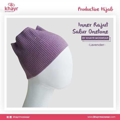 Inner Rajut Onetone 15 Lavender