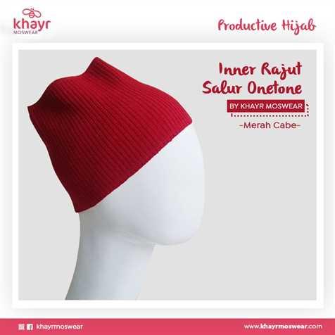 Inner Rajut Onetone 19 Merah cabe
