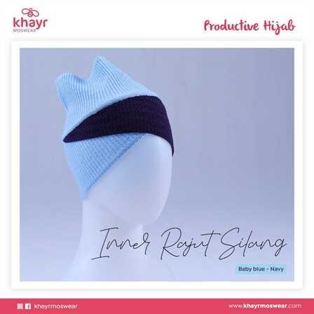 Inner Rajut Silang 04 Baby Blue Navy