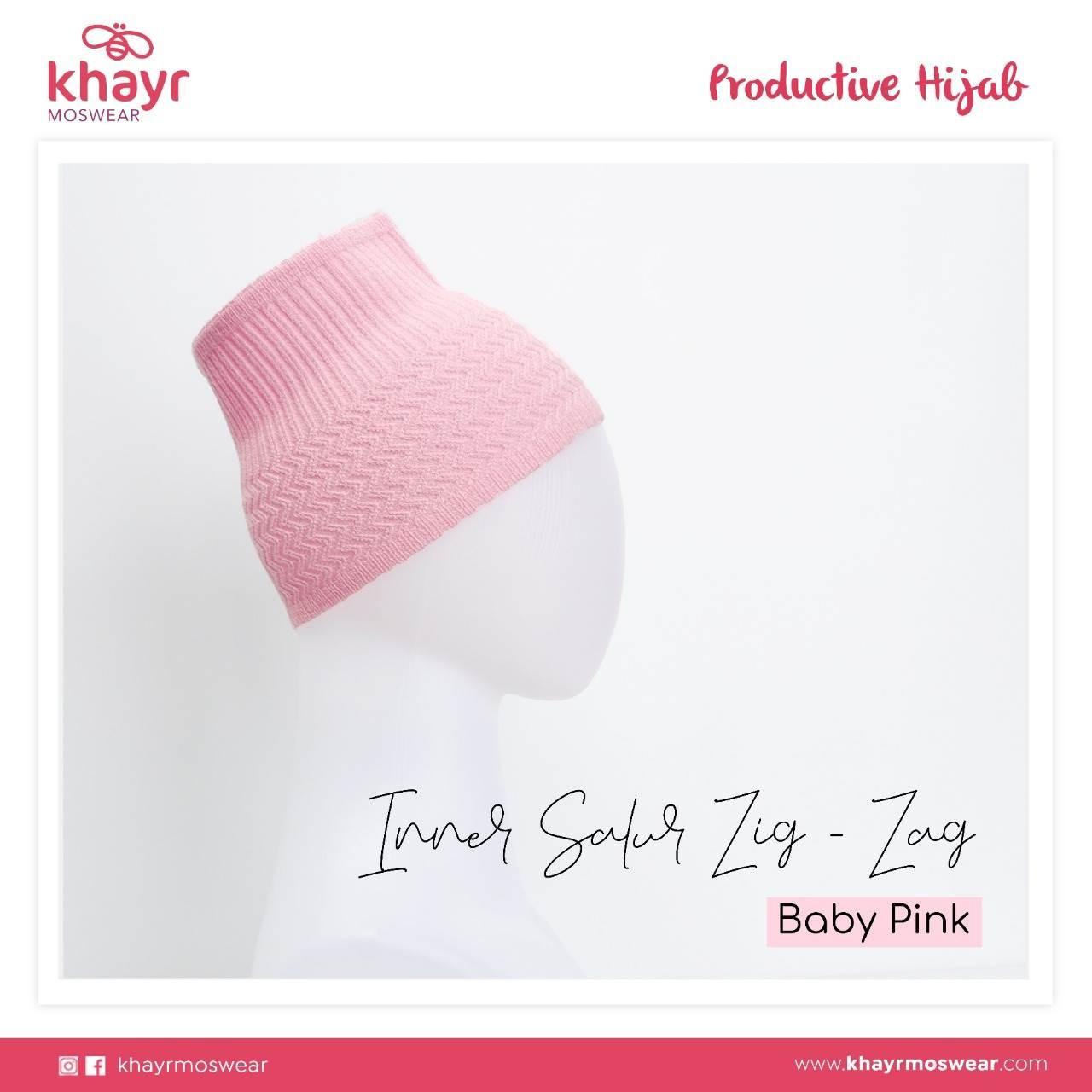 Inner Salur Zigzag Baby Pink