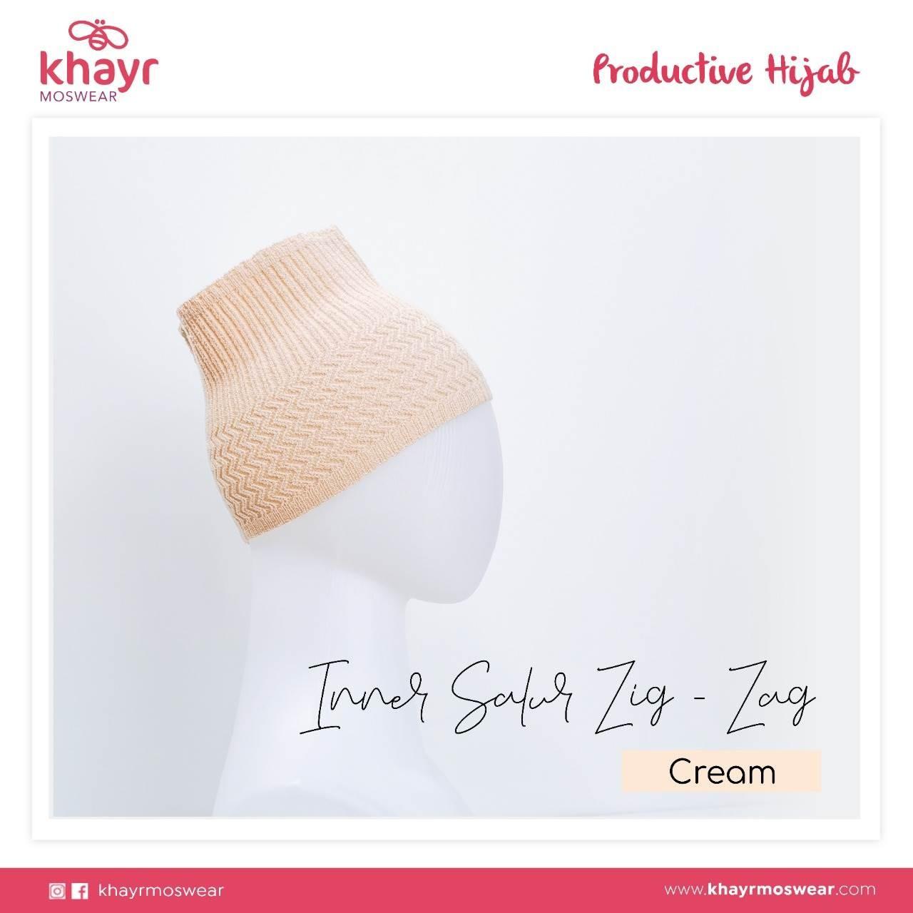 Inner Salur Zigzag Cream