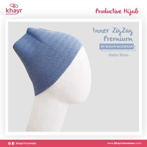 Salestock Inner Zigzag Onetone 02 Baby Blue