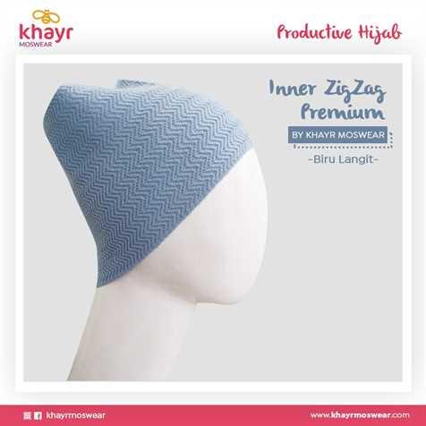 Inner Zigzag Onetone 03 Biru laut