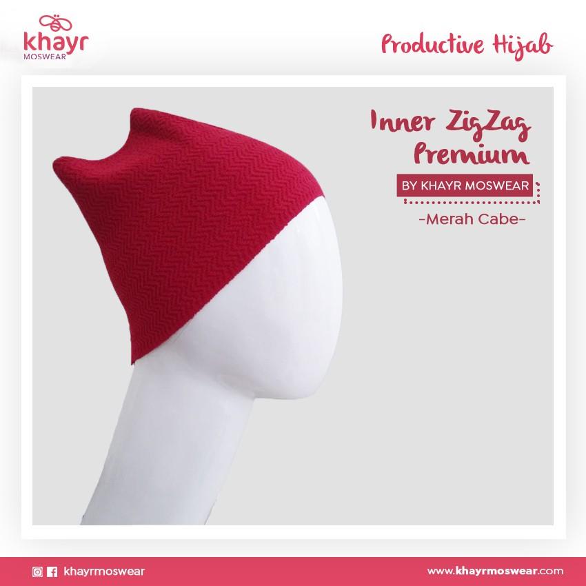 Rijek Inner Zigzag Onetone 13 Merah cabe
