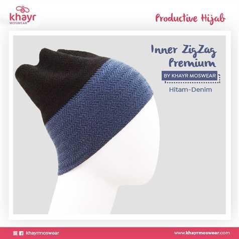 Inner Zigzag Twotone 09 (Hitam - Denim)