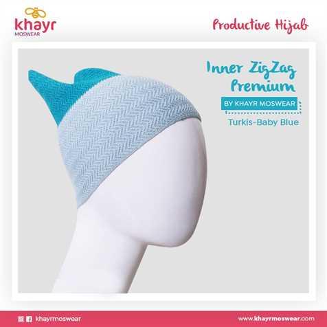 Inner zigzag Twotone 02 (Biru turkis - Bubble Gum)