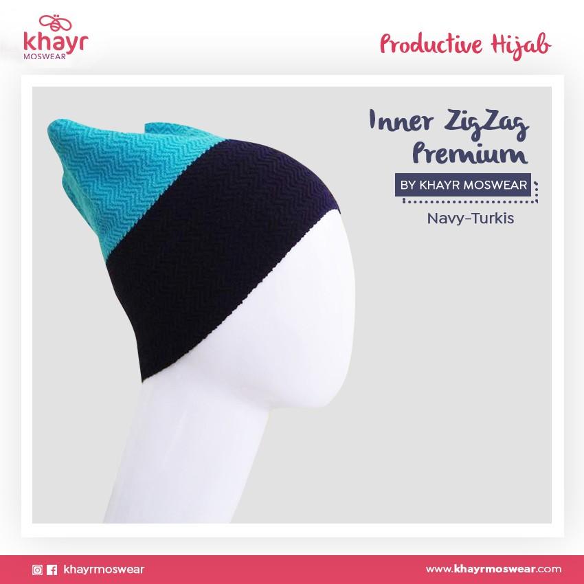 Rijek Inner zigzag Twotone 03 (Biru turkis - Navy)