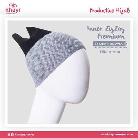 Inner zigzag Twotone 06 (Hitam - Abu)