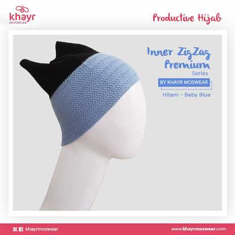 Inner zigzag Twotone 07 (Hitam - Baby Blue)